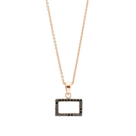 Black Diamond Frame Necklace