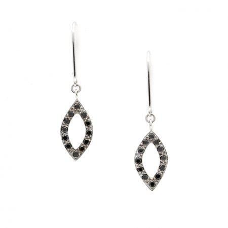 Black Diamond Petal Earrings