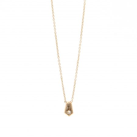 Champagne Bullet Diamond Necklace