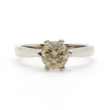 Champage Diamond Droplet Ring