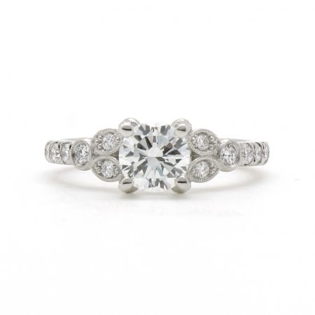 Diamond Leaf Cluster Ring