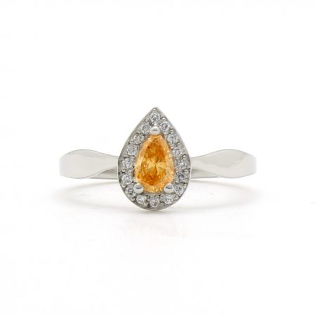 Fancy Orange Diamond Ring