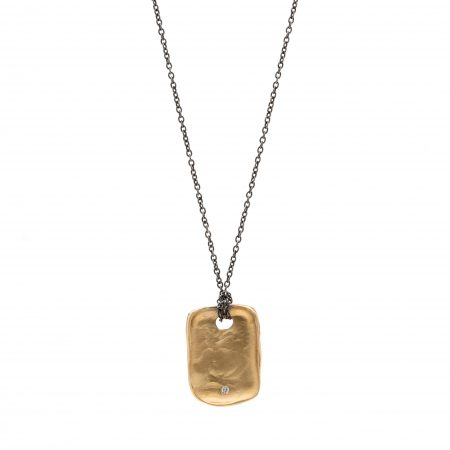 Gold Dog Tag Necklace