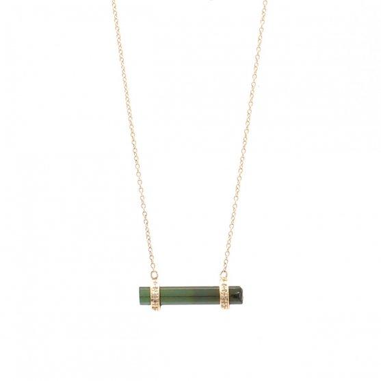 Tourmaline Bar Necklace