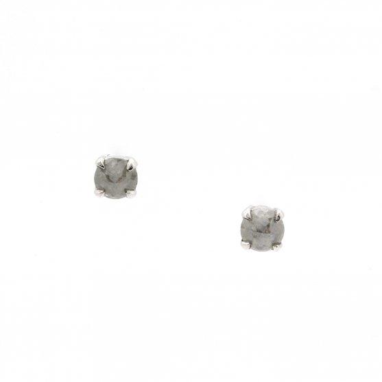 Grey Rose Cut Diamond Studs
