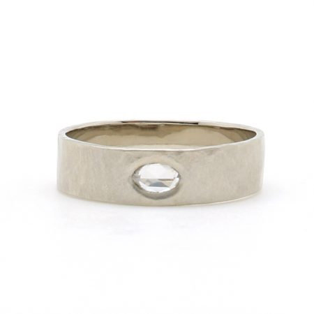 Hewn Rose Cut Diamond Band