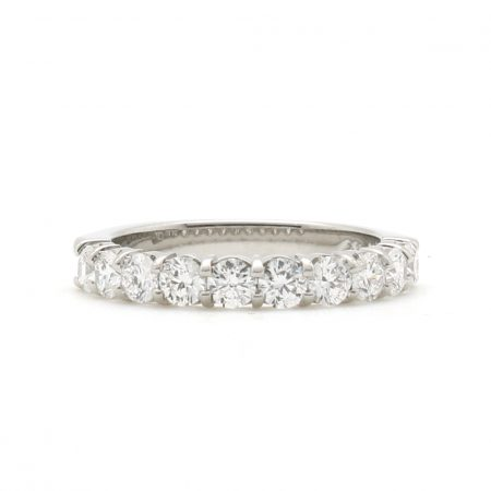 Large Platinum Scalloped Diamond Band