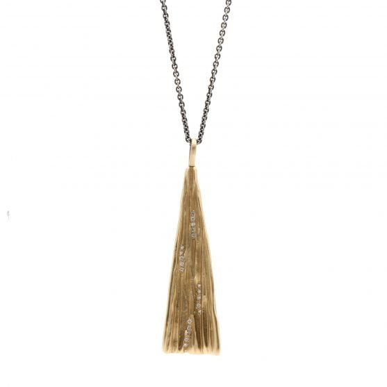 Large Gold Cone Necklace