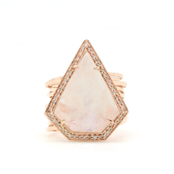 Moonstone Multi Band Ring