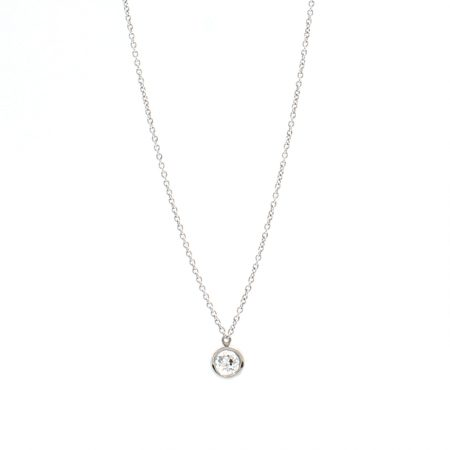 Platinum Old Mine Cut Diamond Necklace