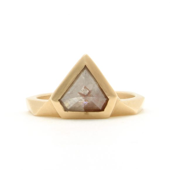 Opaque Diamond Shield Ring