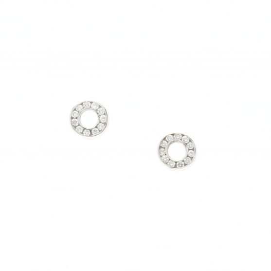 Open Circle Diamond Studs