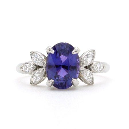 Oval Purple Sapphire Ring