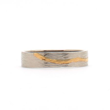 Gold Stripe Palladium Band
