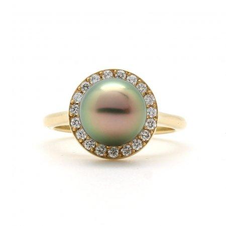 Tahitian Pearl Halo Ring