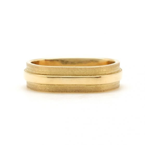 Gold Raised Center Band