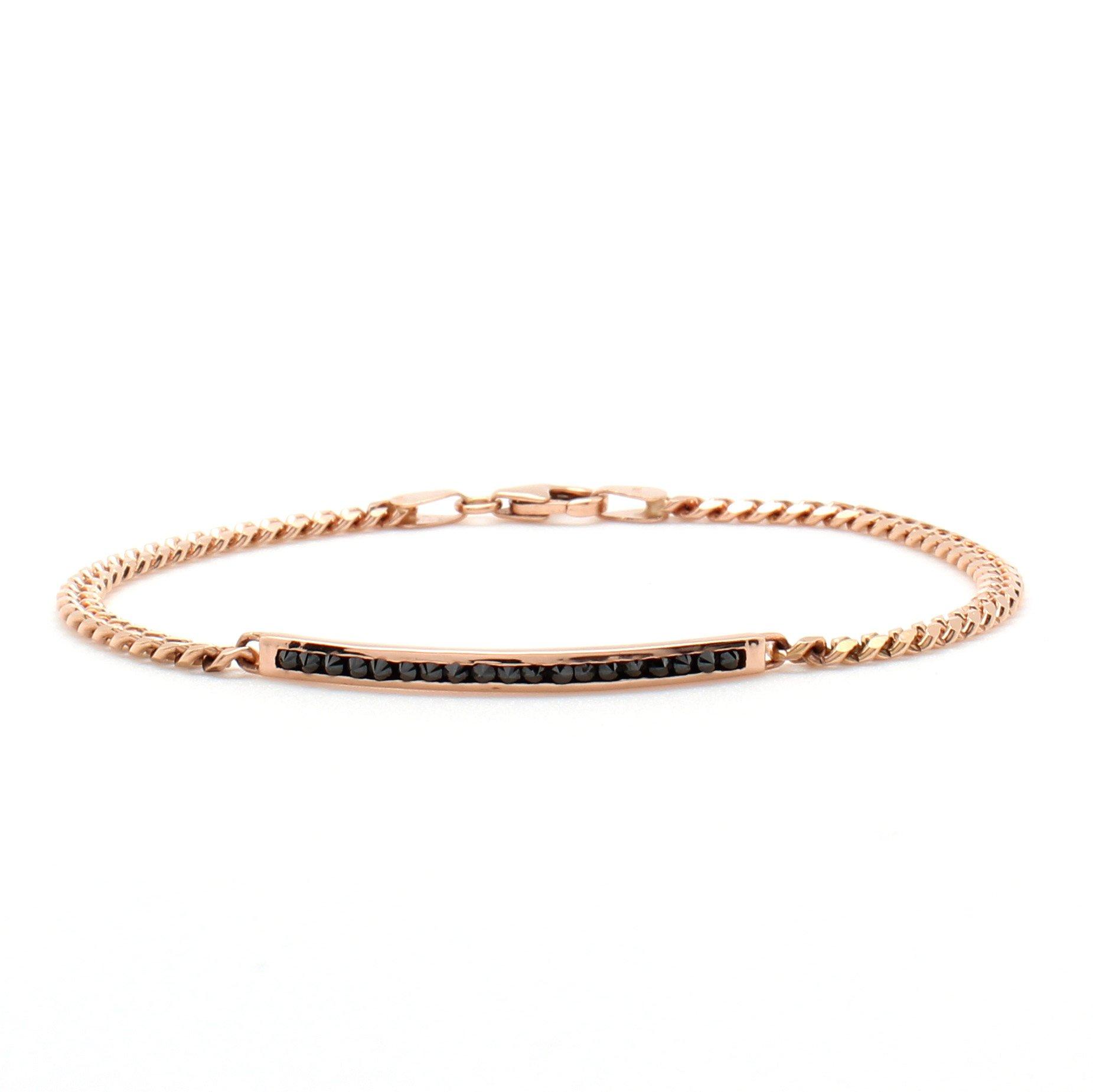 Inverted Diamond Id Bracelet