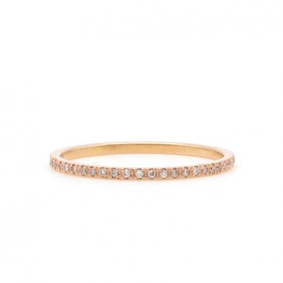 Featherweight Rose Gold Diamond Band