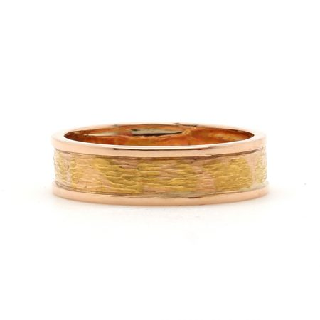 Rose Gold Edge Texture Band