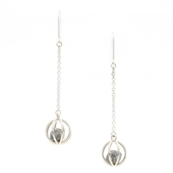 Rough Diamond Cage Earrings