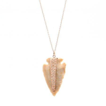 Tan Arrowhead Diamond Pendant