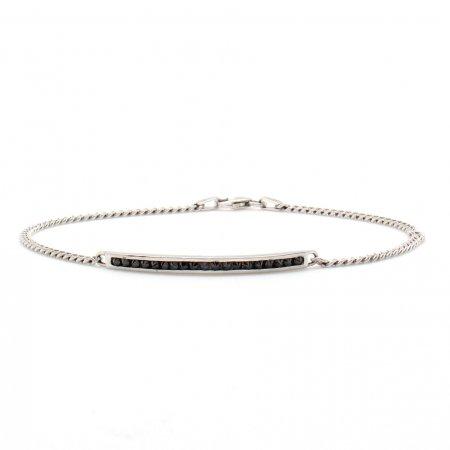 Rose Inverted Diamond ID Bracelet