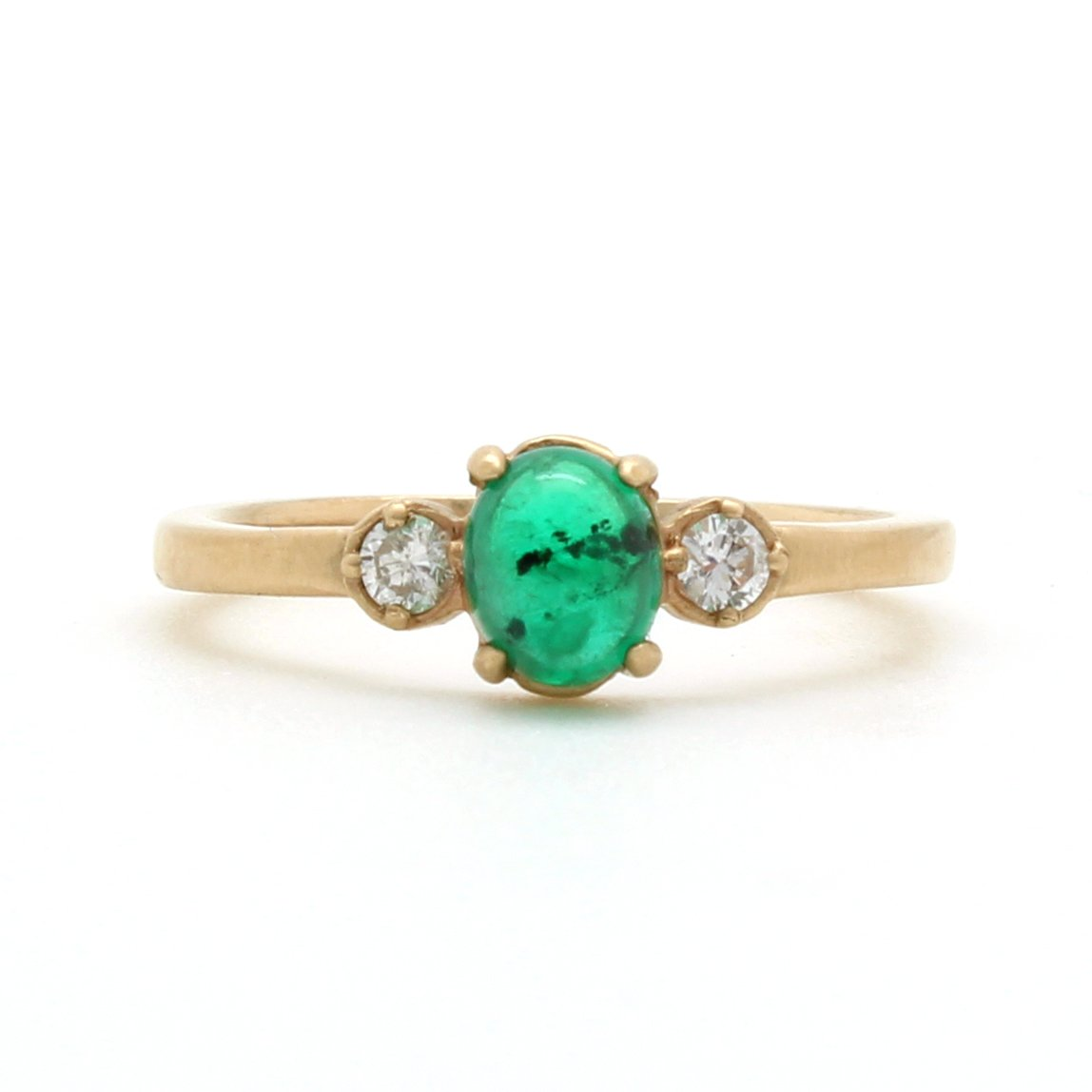 Emerald And Diamond Three Stone Ring D Amp H Jewelers