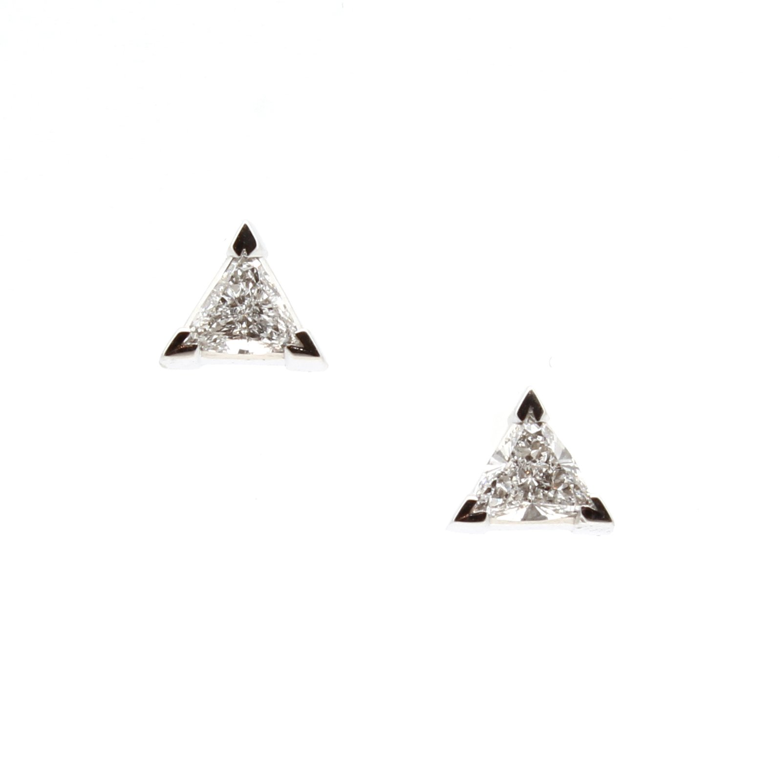 Triangle Shaped  Diamond Mens Ring
