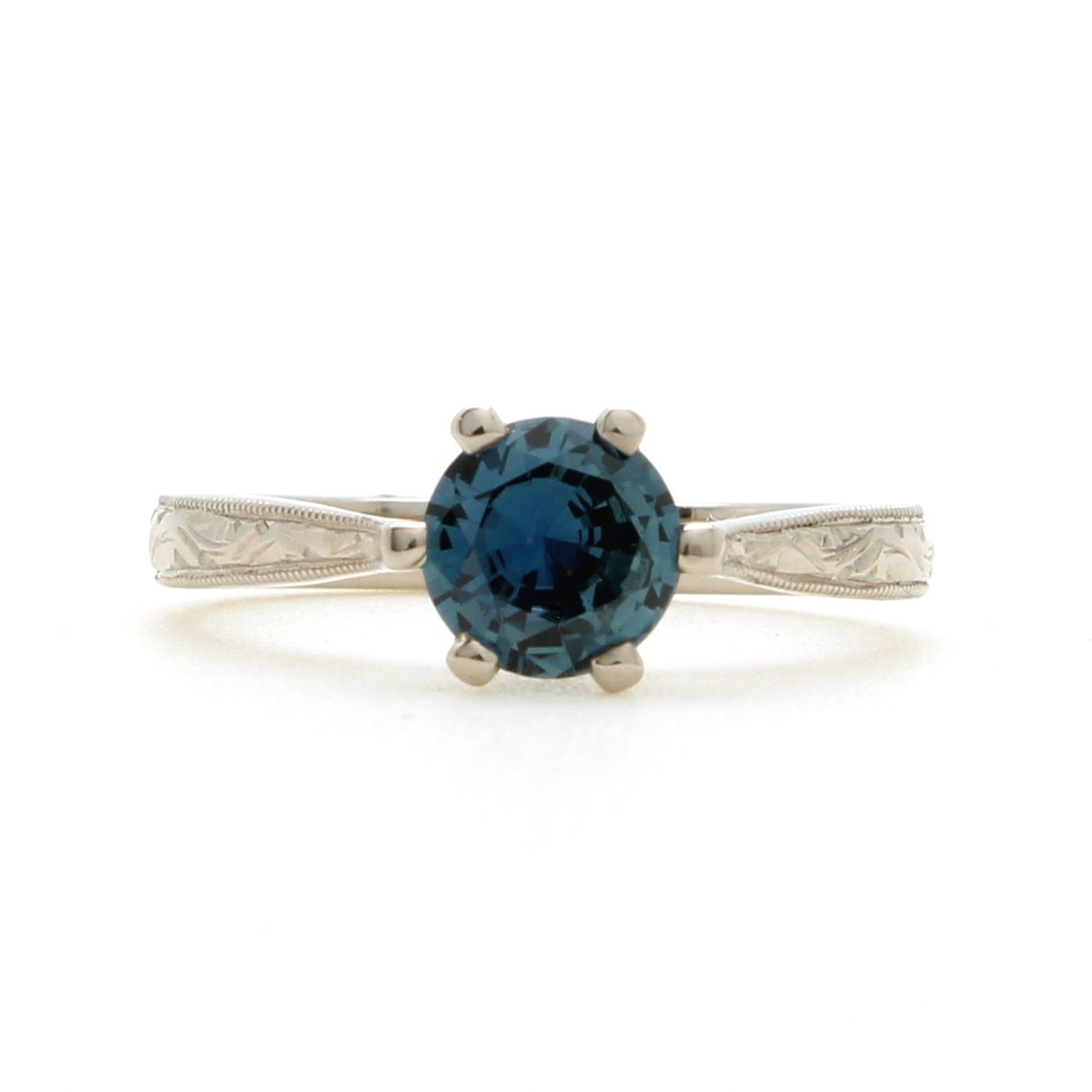 Sapphire And Emerald Gold Ring