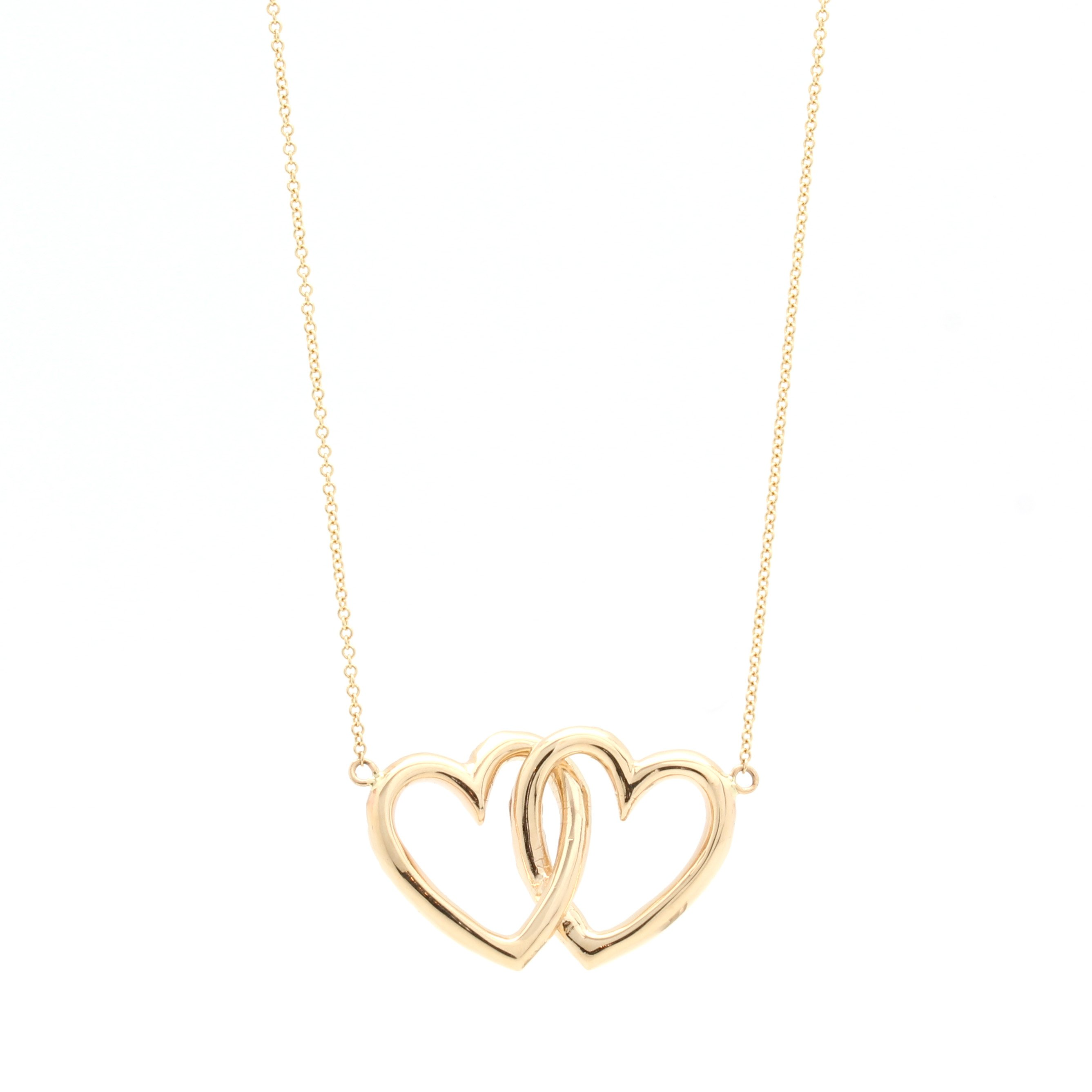 double heart necklace � d amp h jewelers