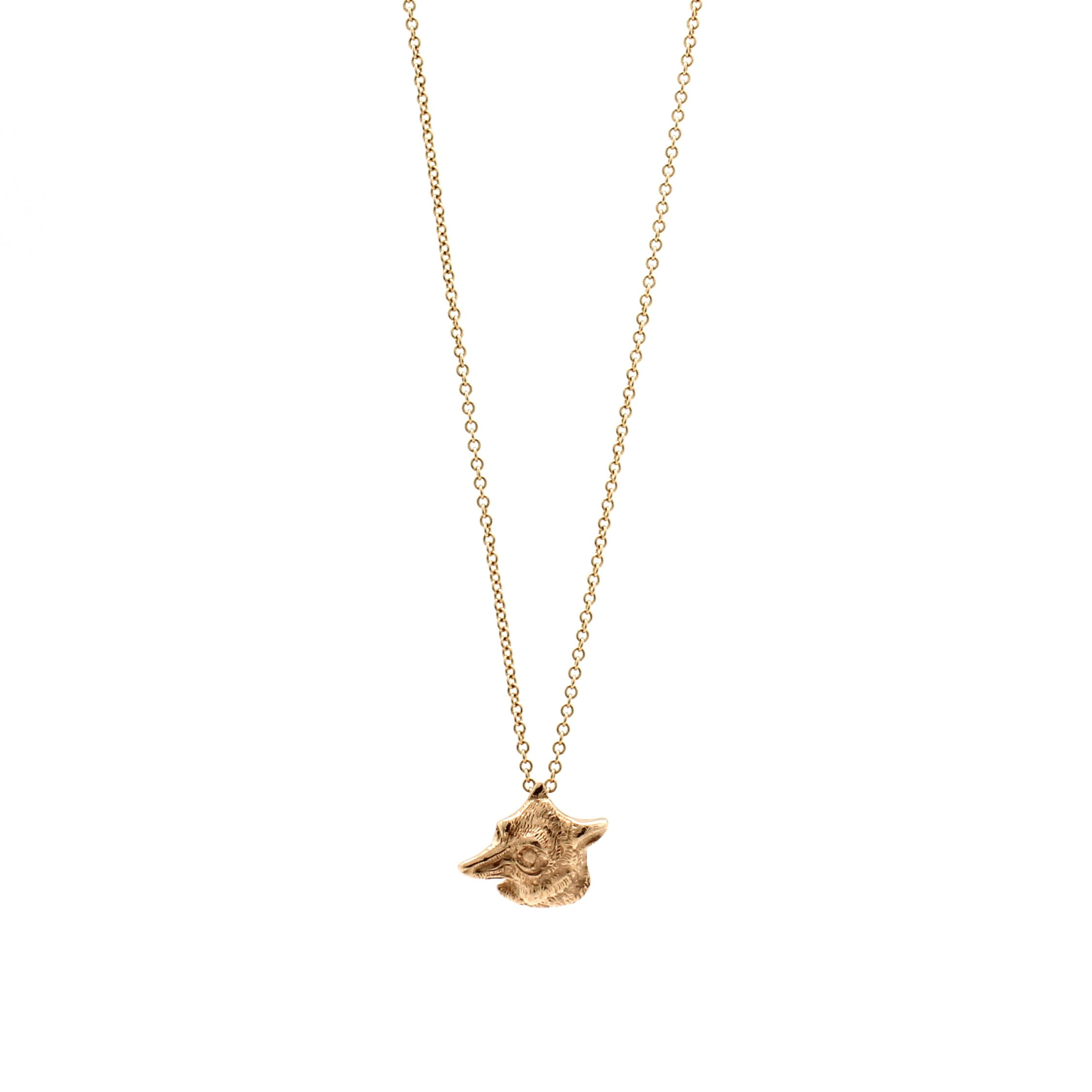 gold fox necklace d h jewelers