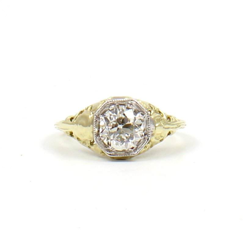 Art Deco Floral Ring