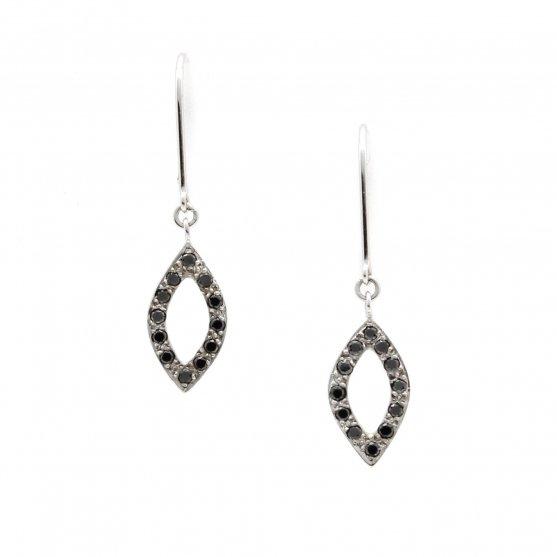 Black Diamond Petal Earrings