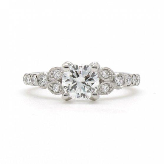 Diamond Leaf Cluster Ring