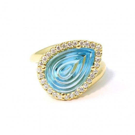 Fancy Blue Topaz Ring