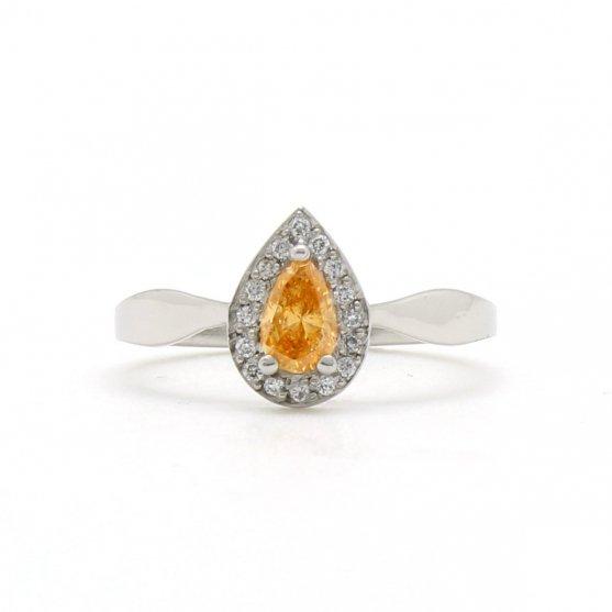 Fancy Orange Diamond Ring