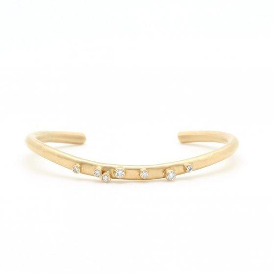 Gold Bezel Cluster Bracelet