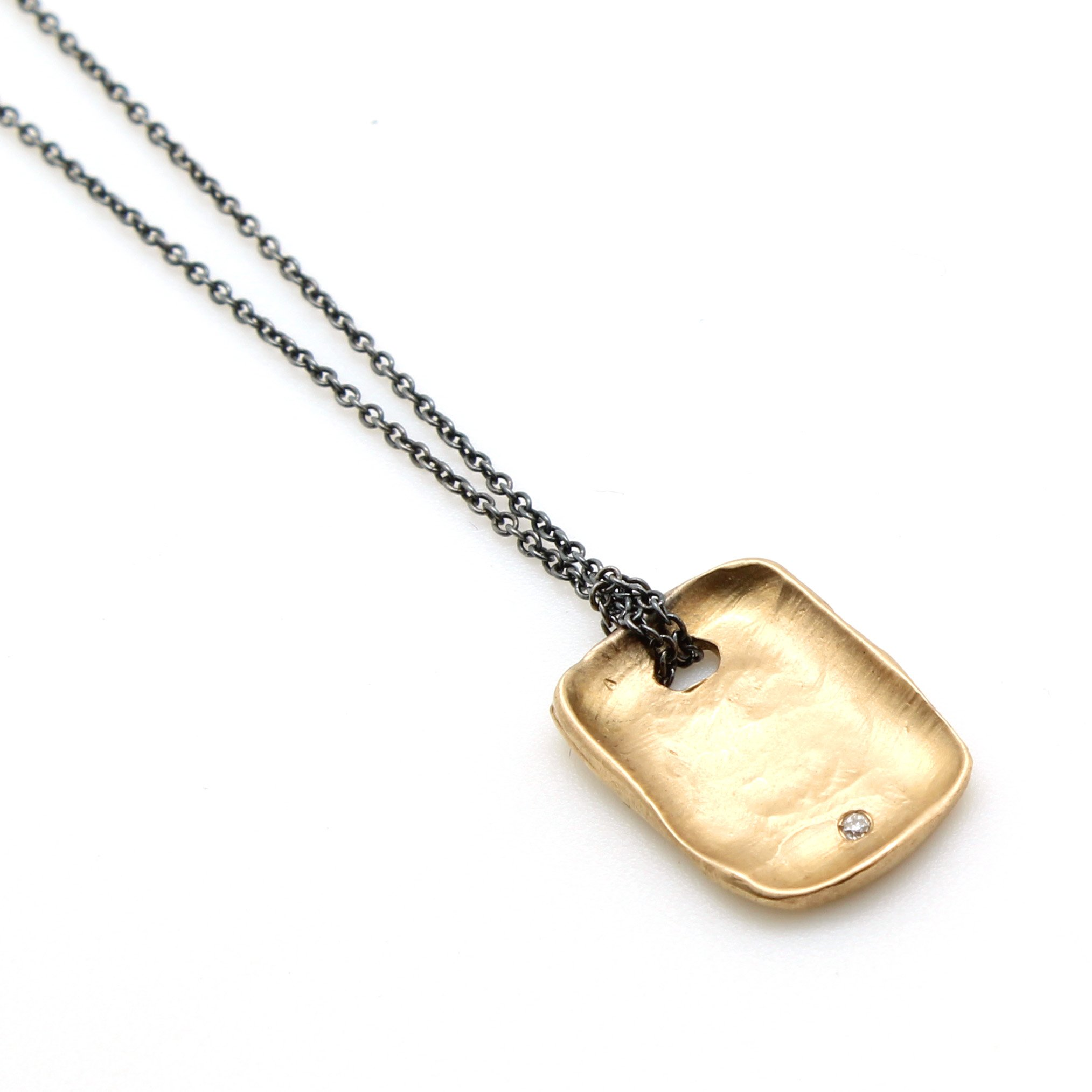 The Vault Tagged Black The Deco Haus: Gold Dog Tag Necklace