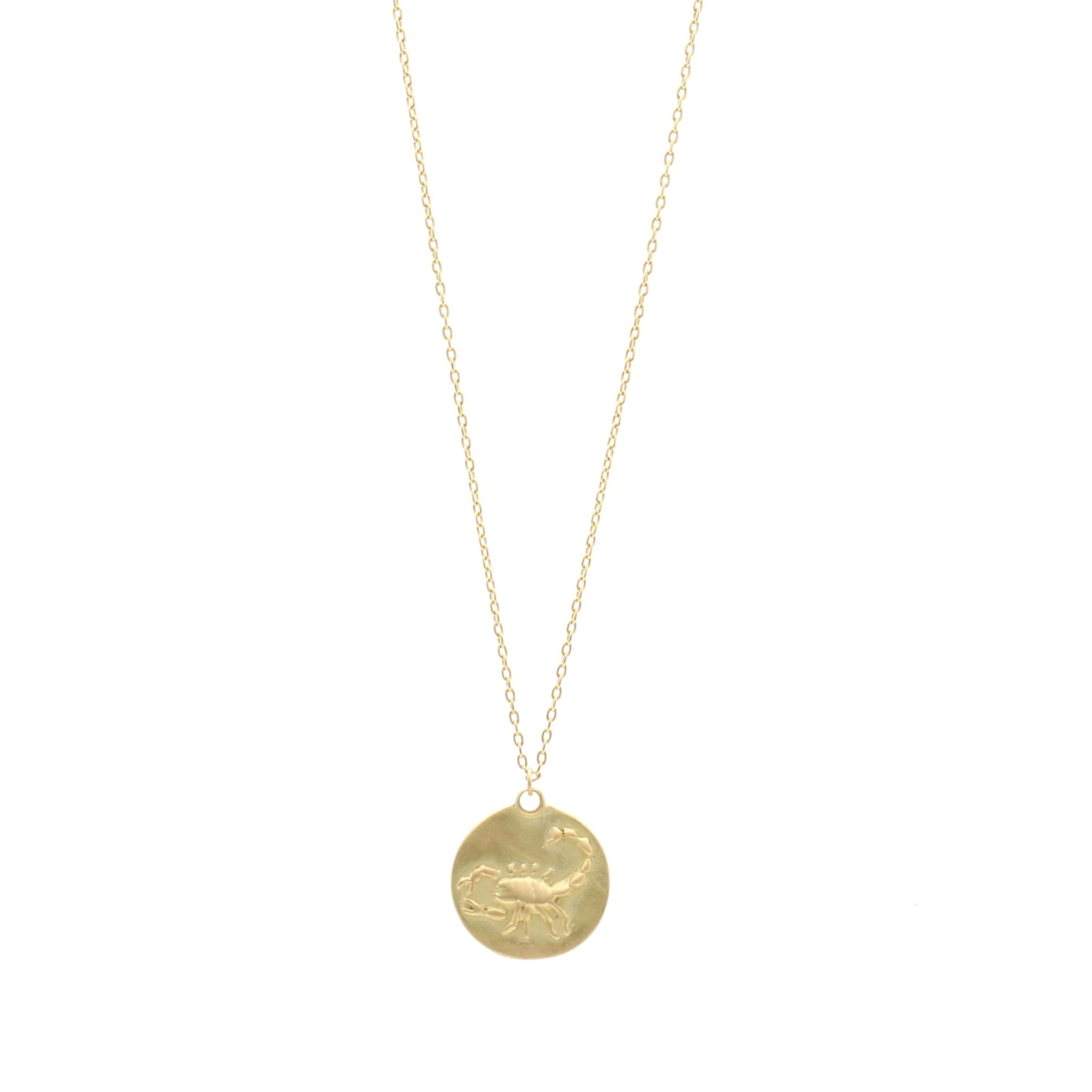 Dh jewelers san francisco shop eco friendly conflict free gold zodiac pendant mozeypictures Gallery