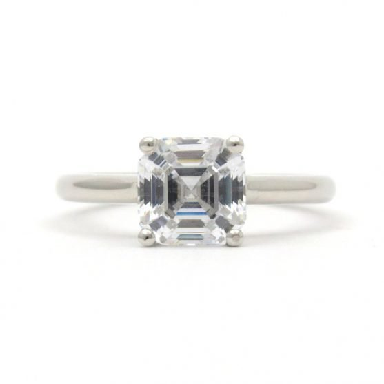Platinum Prong Solitaire