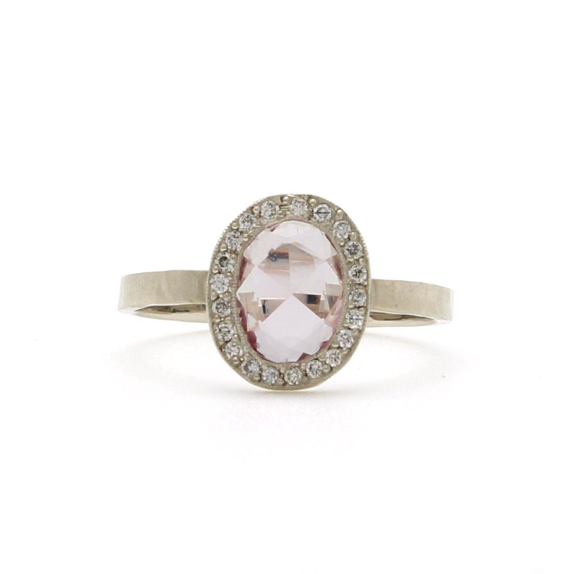 sapphire gold large white rings p ring context pink and diamond
