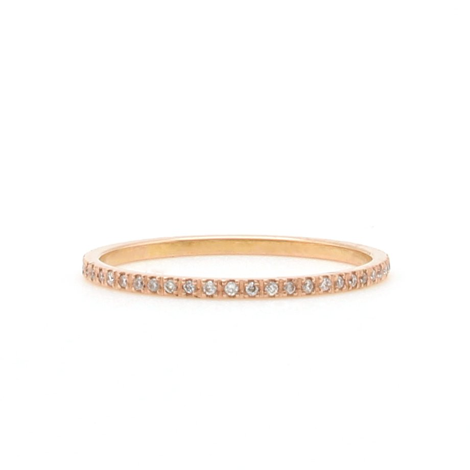 band boutique in gold diamond rose engagement bands ring cz