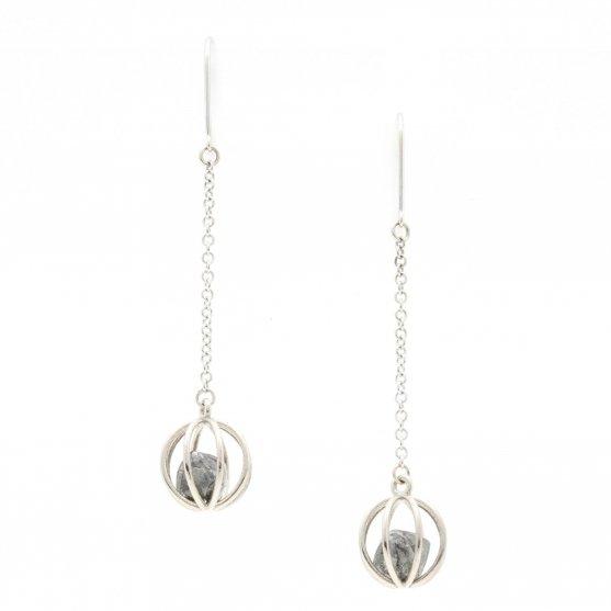 Rough Diamond Cage Earrings