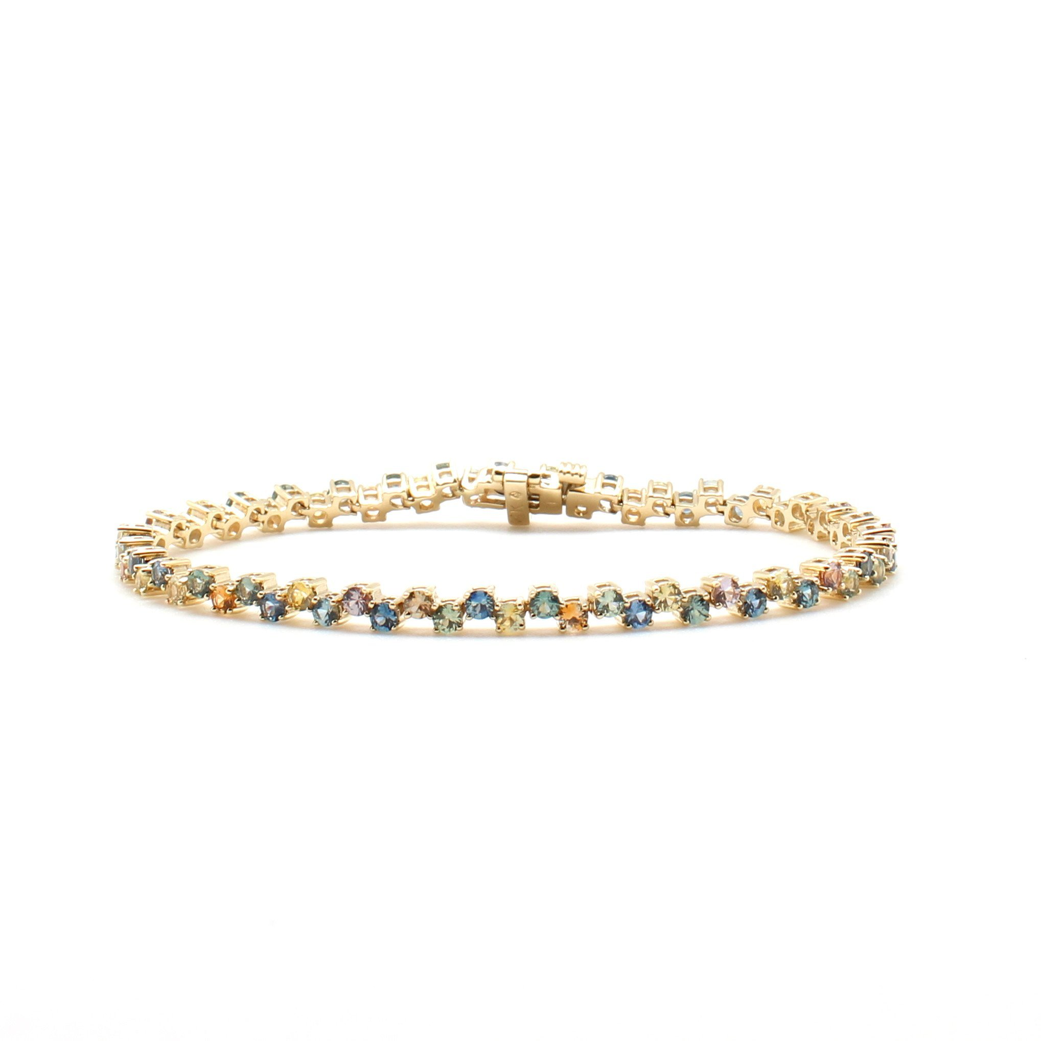 tranquility and set sapphire quartz jewelry accents filled with mickey crystal lynn stretch gold bracelet products