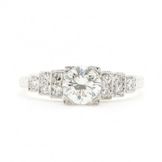 Tiered Vintage Diamond Ring