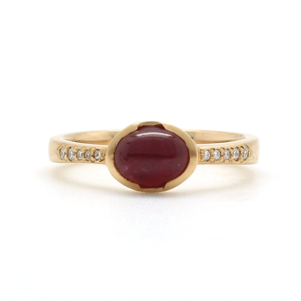 Oval Ruby Cabochon Ring • D & H Jewelers