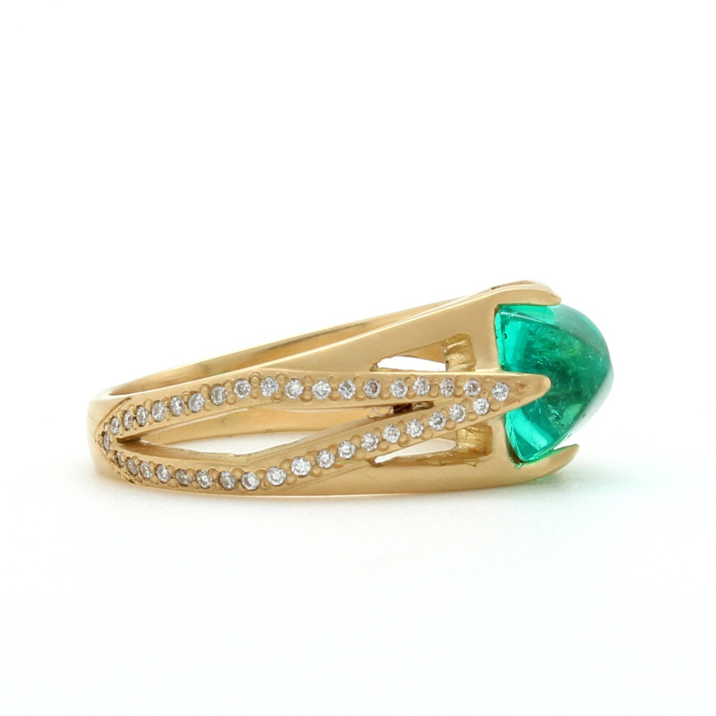 romy gold rose emerald atelier rings product ring