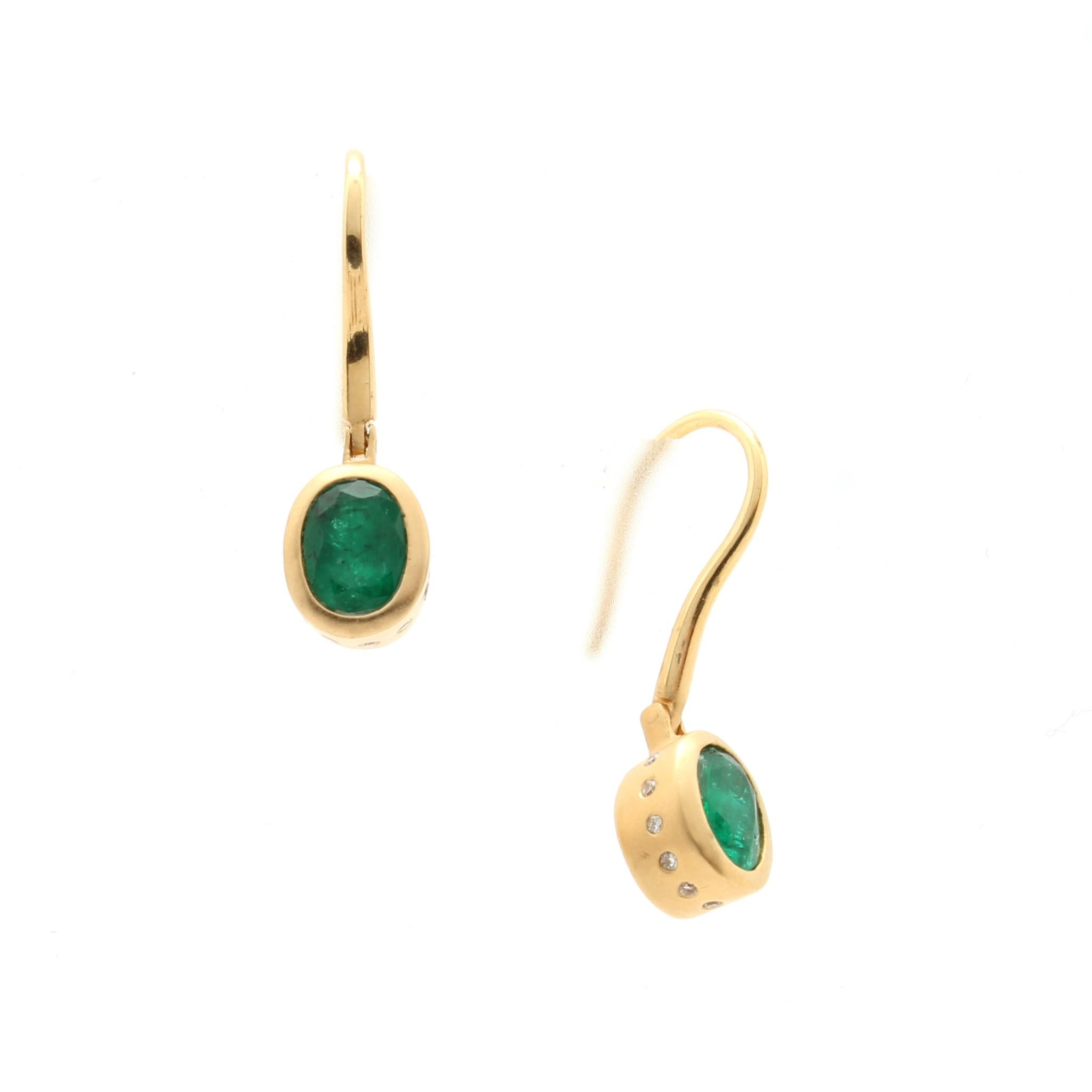 gold effy diamond earrings diamondemerald rose emerald jewellery p