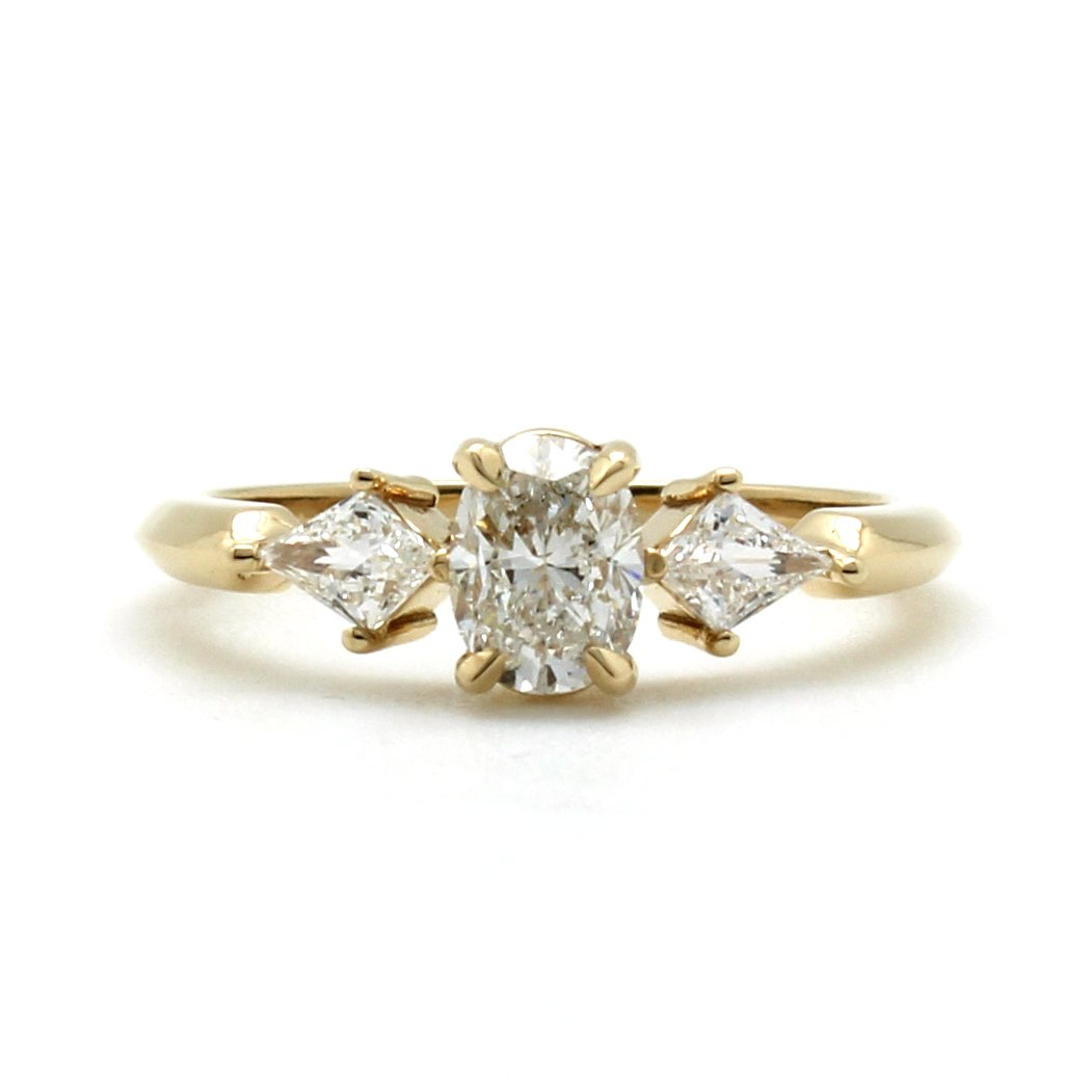 Antique Fancy Yellow Diamond Ring