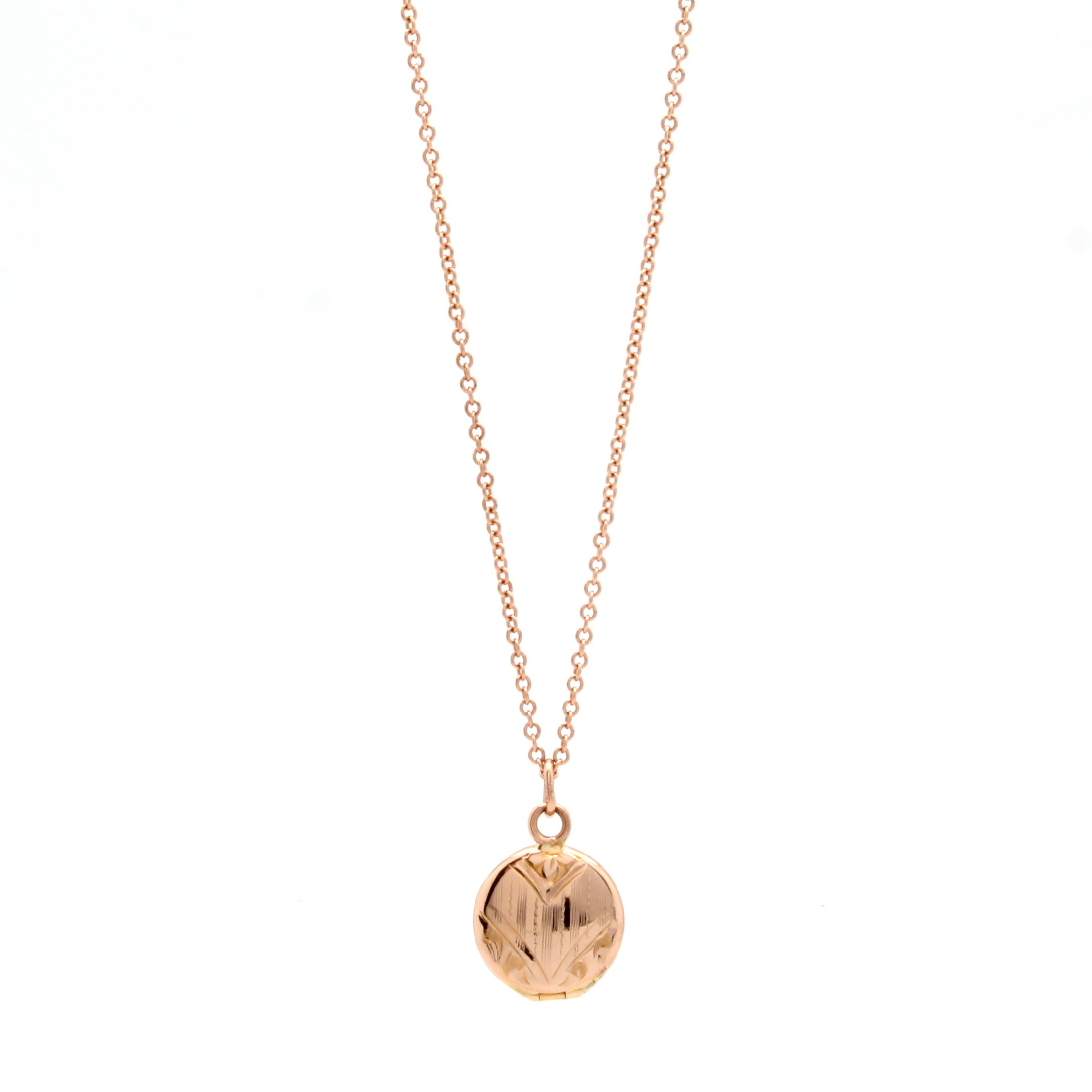 Antique Mini Rose Gold Locket D H